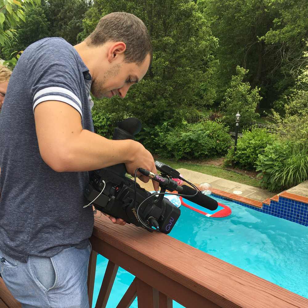 Getting some shots from above for a pool scene