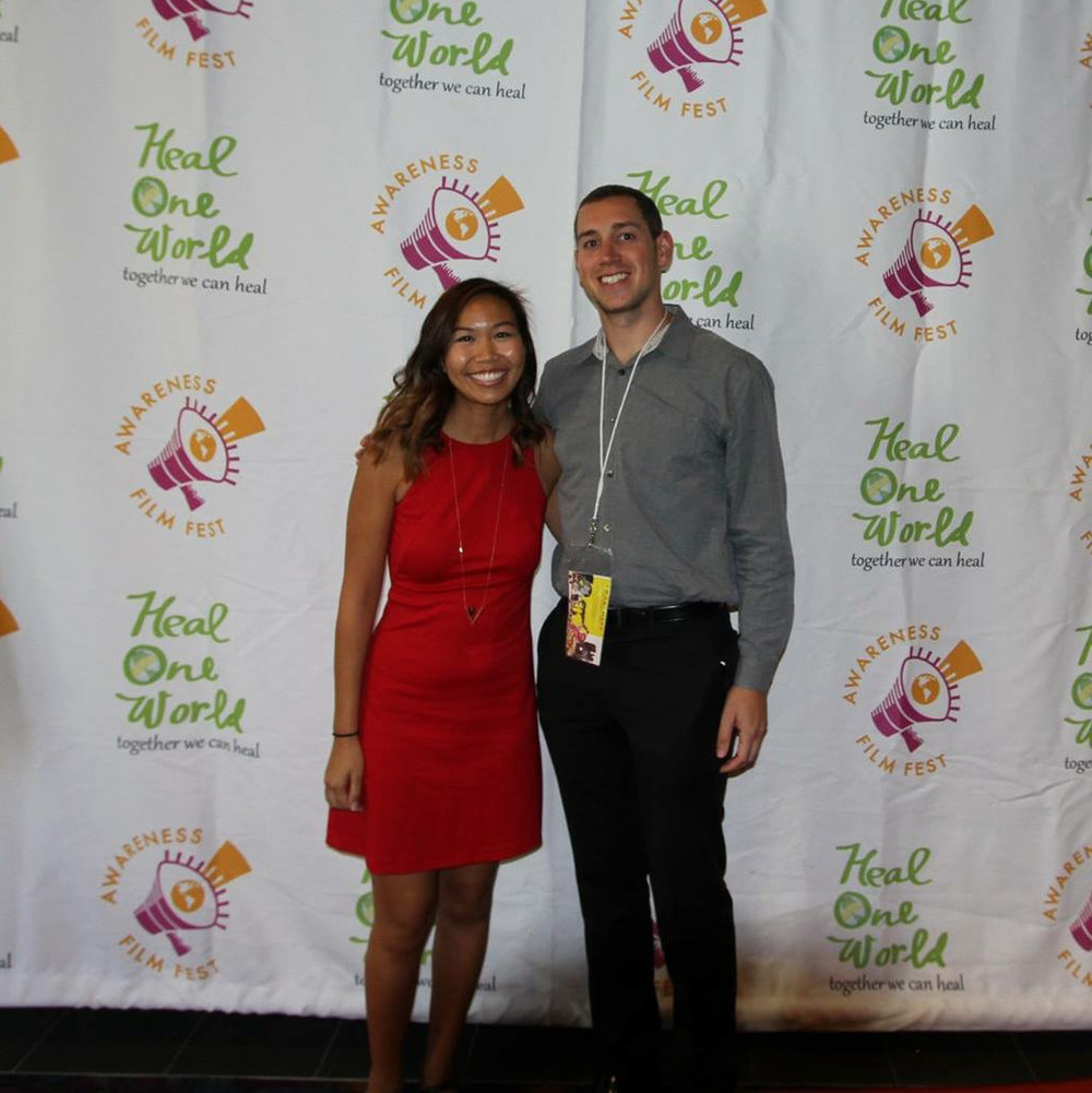 Walking the red carpet at the  Awareness Film Festival