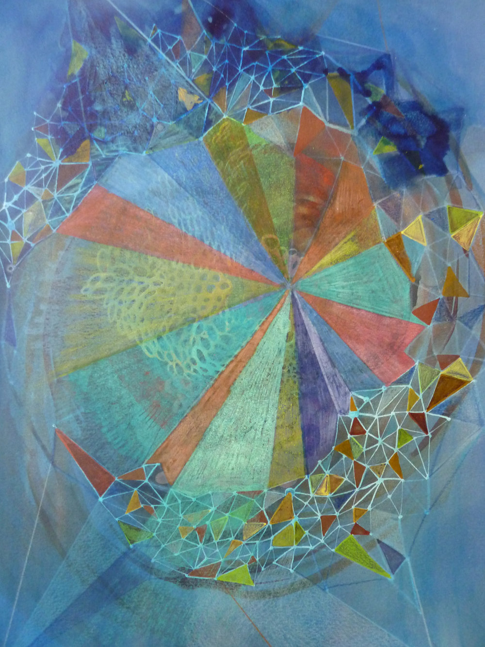 Blue Pinwheel