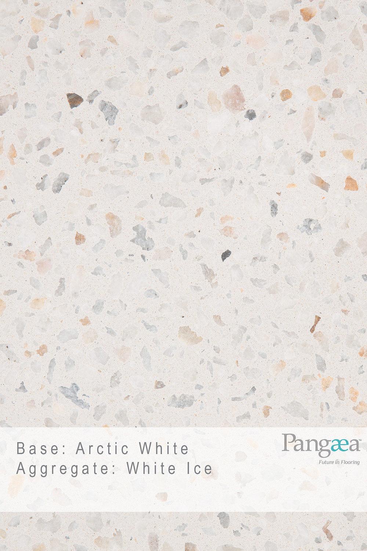 Base - Arctic White. Aggregate - White Ice