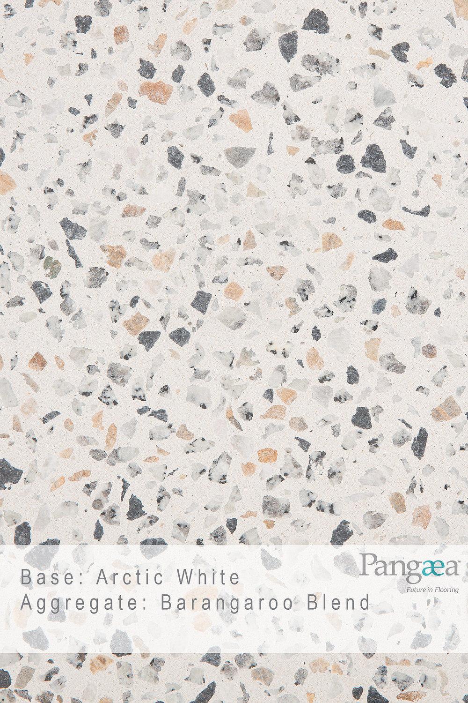 Base -arctic white. aggregate - barangaroo blend