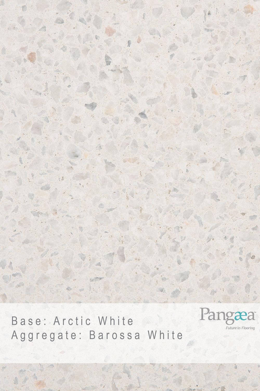 Base -arctic white. aggregate - barossa white