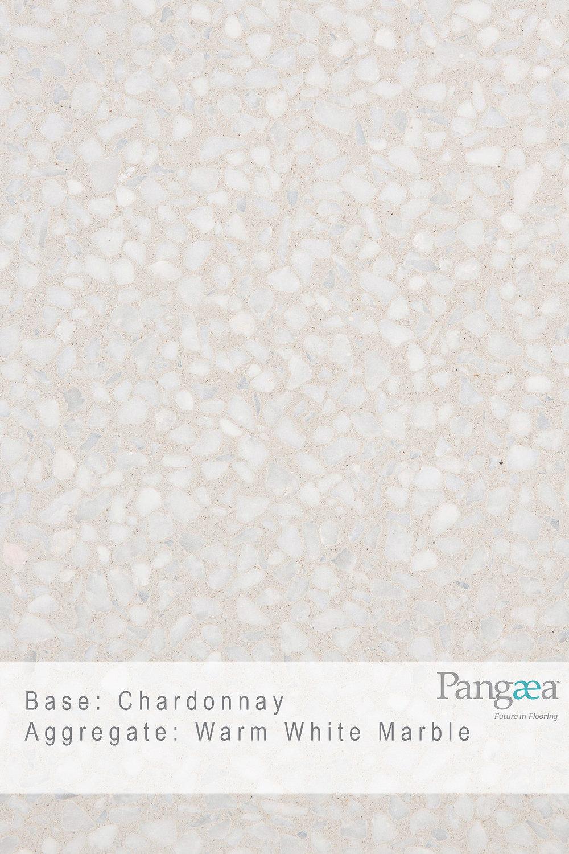 Base - Chardonnay. Aggregate - Warm White Marble