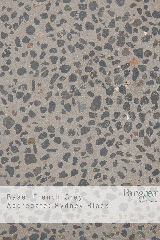 Base - French Grey. Aggregate - Sydney Black