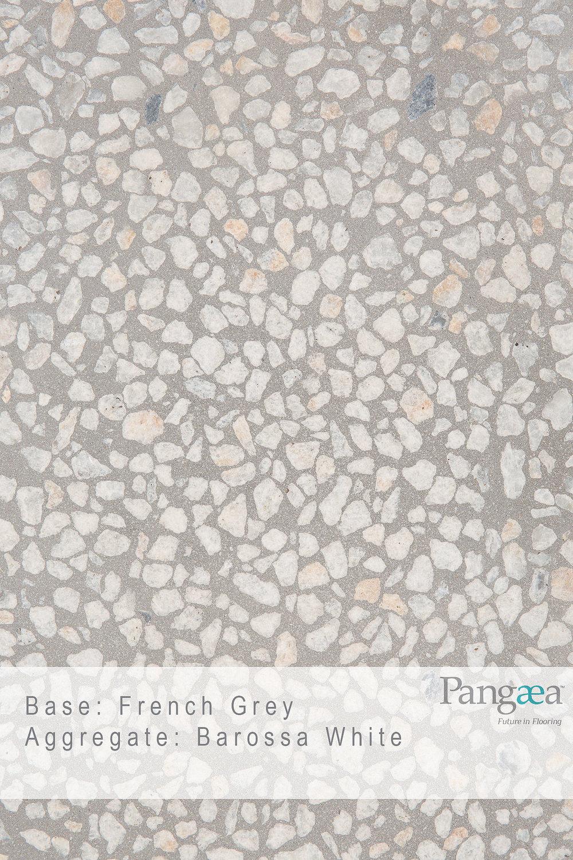 Base - French Grey. Aggregate - Barossa White