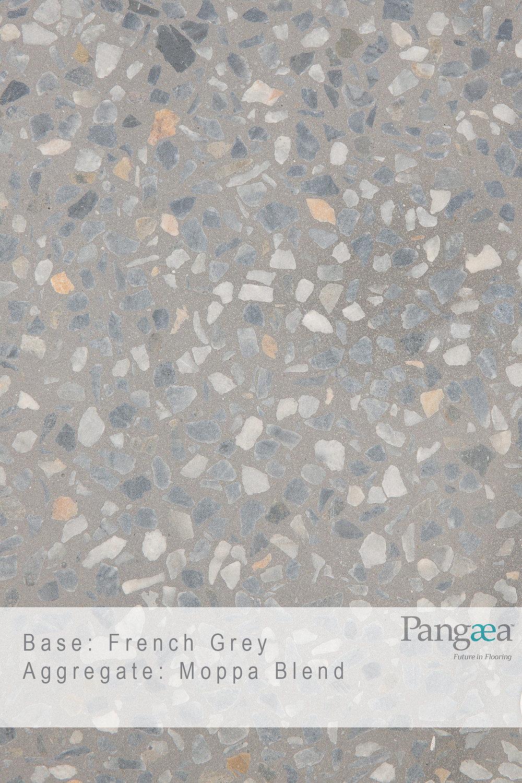 Base - French Grey. Aggregate - Moppa blend