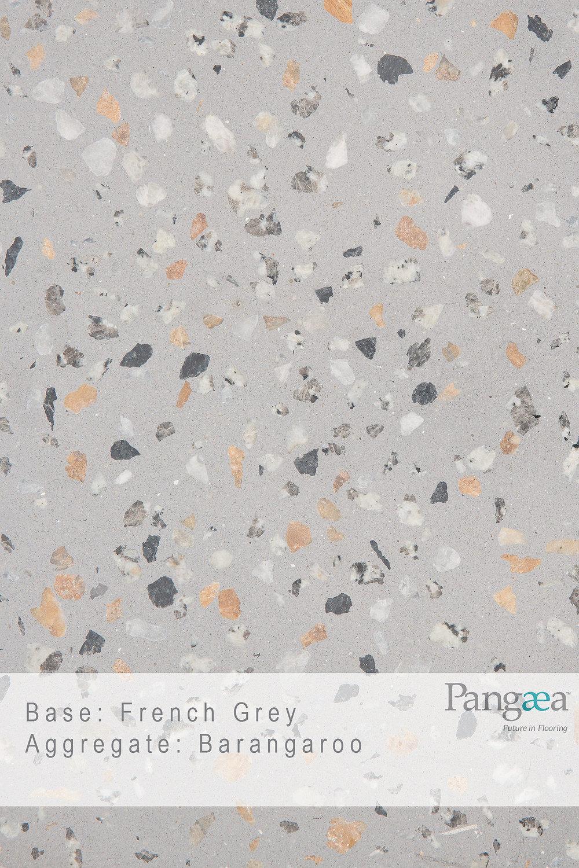 Base - French Grey. Aggregate - Barangaroo
