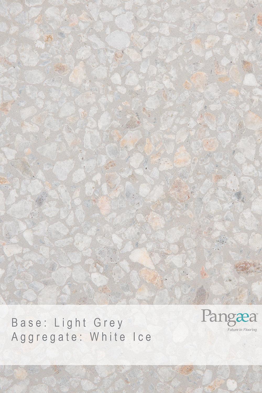 Base - Light Grey. Aggregate - White Ice