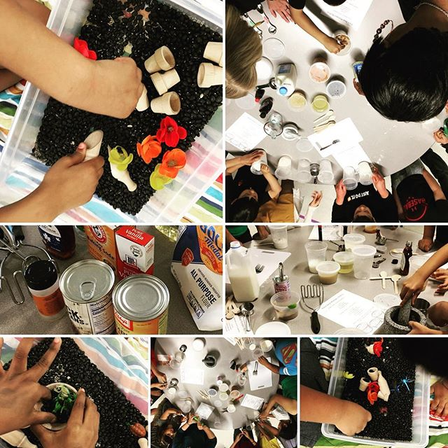 Thank you to the Agnor-Hurt Elementary School Bright Stars program for inviting Full Circle in for a family fun Black Bean Pumpkin Muffin making event!  These muffins are an easy, healthy snack with nutrients to support attention, focus, and calm both in the classroom and out. Families learned how time in the kitchen opens doors for all kinds of learning and development including expansion of language and vocabulary, math skills, problem solving and predicting.  Bonus content: use material from the kitchen to make fun sensory bins!