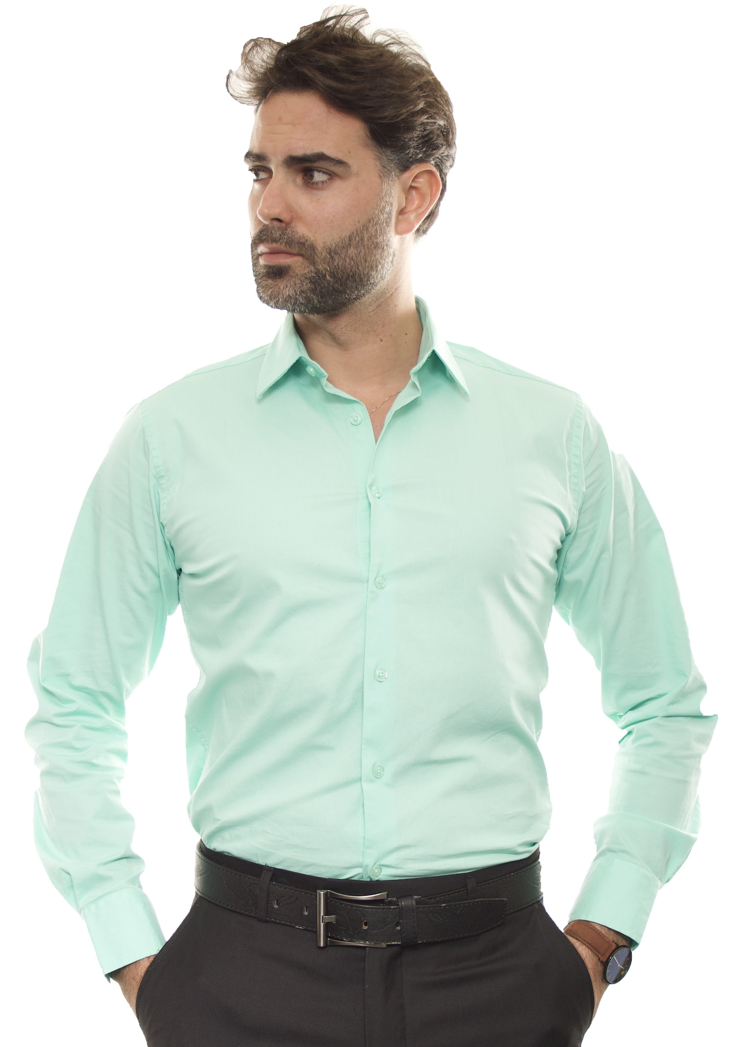 New Fashion Dress Shirt Mint