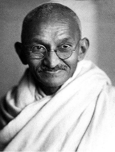 "Mahathma Gandhi     ""I regard myself as a soldier, though a soldier of peace."""