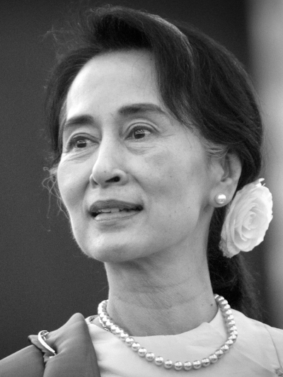 "Aung San Suu Kyi     ""I don't believe in people just hoping."""