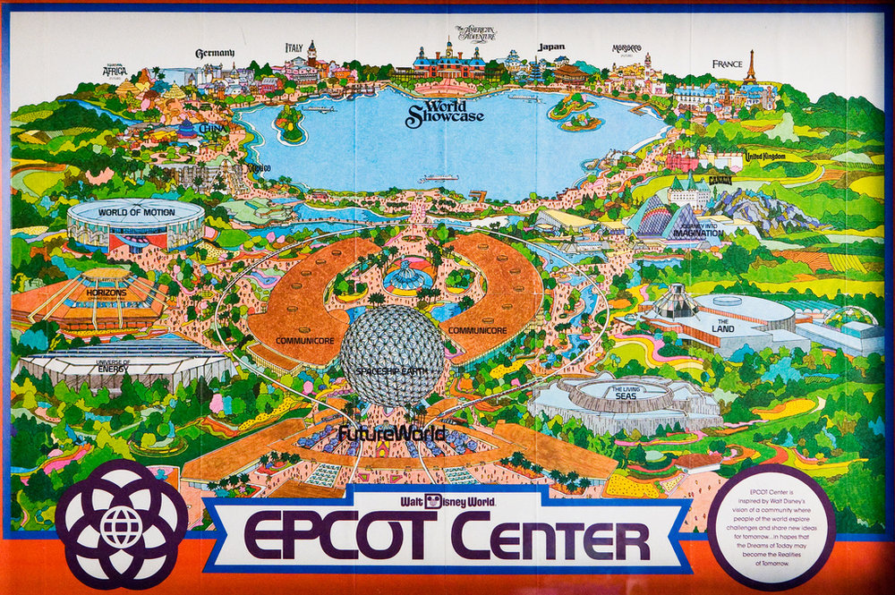 Epcot Center in 1982 Map