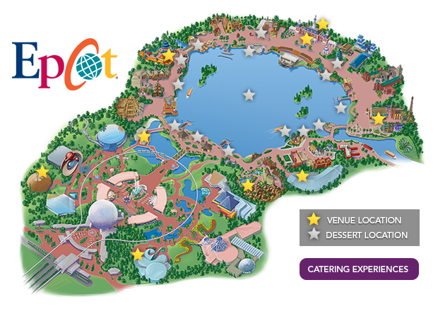 Epcot Map present day 2017 2018