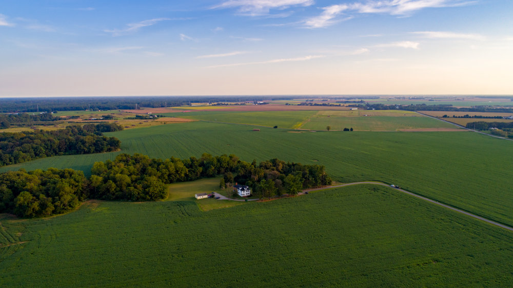 Aerial photo of a farm listing in Galena on Maryland's Eastern Shore