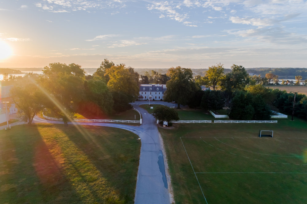 Aerial photo of   Kent School   in Chestertown, MD
