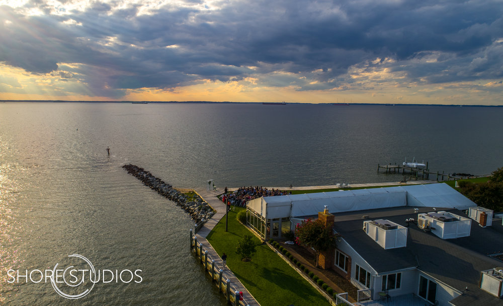 Aerial Photo of Silver Swan Bayside on Kent Island, MD