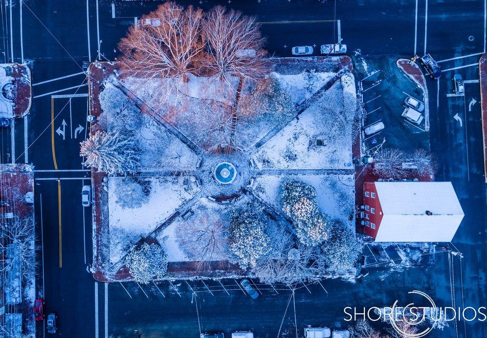 Aerial Fountain Park