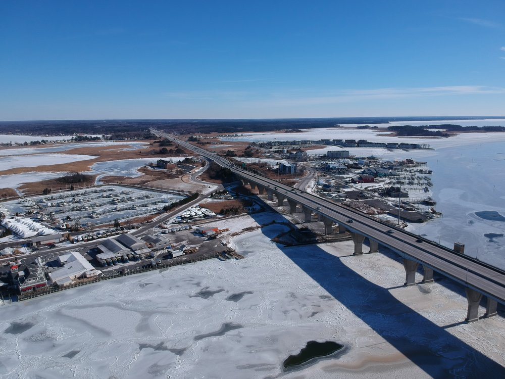 Route 50 and Kent Narrows. Aerial photo courtesy Wye River Marine. Follow them on Facebook   here  .