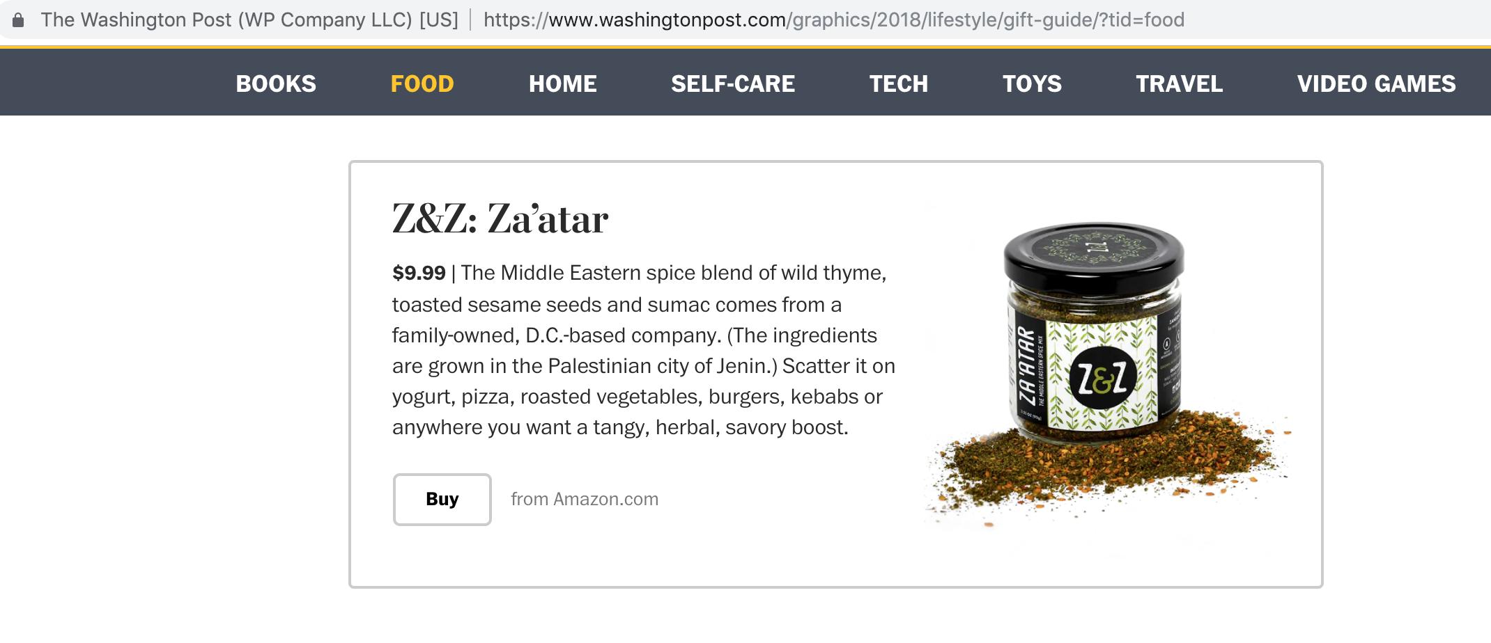 In the Press — Z&Z Za'atar – Real  Good  Za'atar
