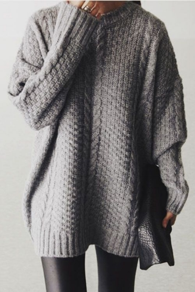 1) Chunky Cable Knit Sweater- There nothing like walking around and feeling like you are still snuggling inside your favorite comforter. #niceandknit