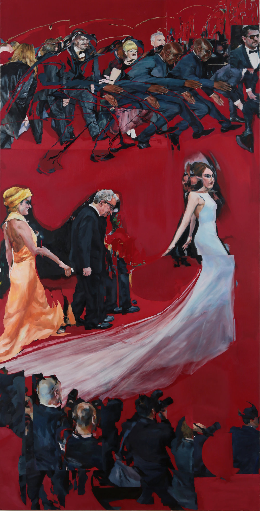 "Inauguration, 2016, oil on canvas, panel 2, 36""*72""(each panel)"