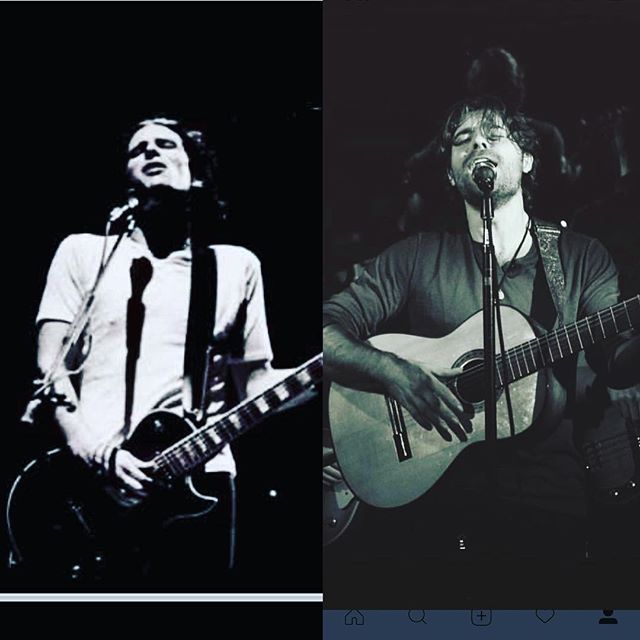 Jeff Buckley to the left and me on the right ! I consider Jeff Buckley to  be the greatest musician /artist , my personal favorite. He has been one of my greatest mentors and no other artist has influenced or inspired me more. I miss his soul . Today I get the privilege to celebrate us both ! Happy  birthday Jeff , your fire will keep on burning !!! My b day is actually tomorrow but I'm celebrating today ... it's Saturday !!! #felipetarantino #birthday #jeffbuckley #doublealbum #doublebirthday #happybirthday  #scorpioseason