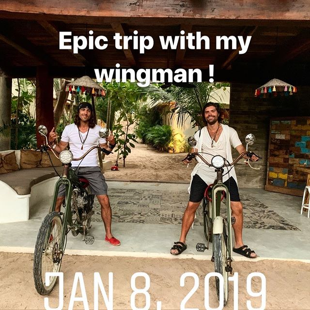 Riders on the storm ! #felipetarantino #tulum #wingman