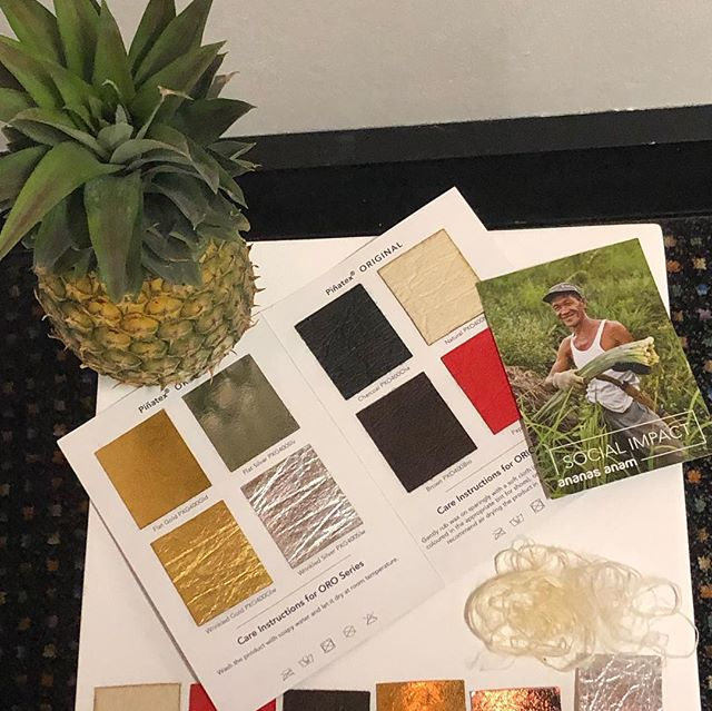Piñatex - pineapple fibre leather!! Made from leaves, an existing  byproduct of agriculture - their use creates an additional income stream for farming communities and can be processed free of harsh chemicals.  @raw.assembly #sustainablefashion  #whomademyclothes @pinatex