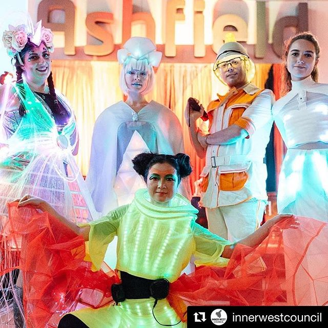 #Repost @innerwestcouncil with @get_repost ・・・ What an amazing evening of colour, culture, art and technology!! Thanks to all who joined us for the EDGE Community Launch Party in #Ashfield. @arteconnect01's sARTorial LED costumes were a highlight of the night. #EDGEInnerWest #innerwest #innerwestisbest #innerwestart #livemusic #culture #fashion #dance #fashtech #sartorial2018 #steameducation