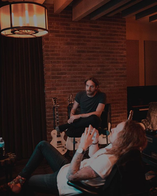 Discussing how this new record is going to dominate the world // @nickjohnstonmusic @sdgiffin // ·····