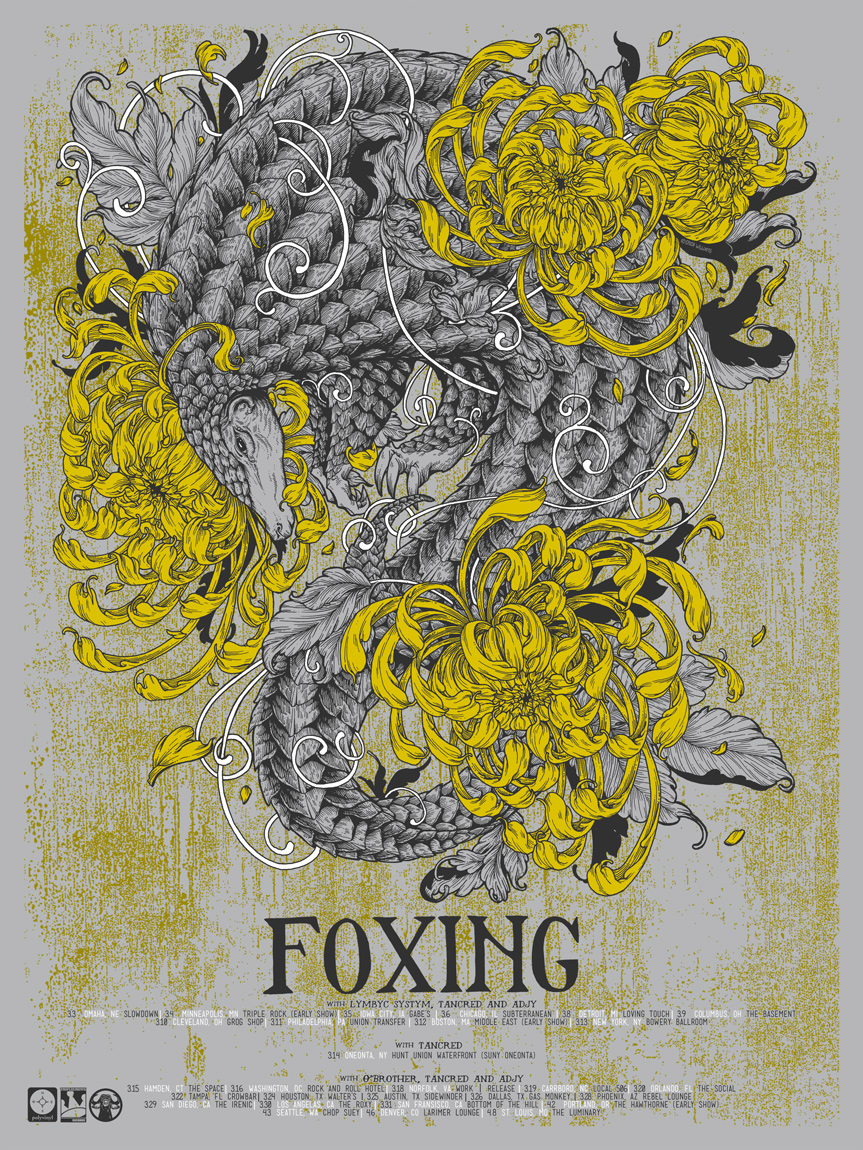 Foxing Tour Poster