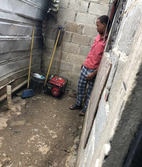The Generator used to power our clinic, this cool kid was able to get it restarted