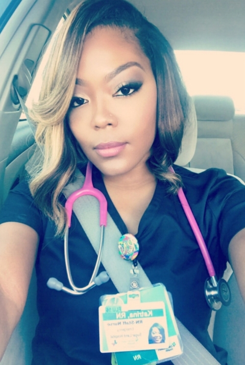 """""""I work in the ER and I have patients die all the time. It's very hard to watch and not feel heartache because as nurses we are suppose to be strong and resilient. When I feel defeated or overwhelmed at work I take a breather, walk around the building and pray, cry if I have to. It can be alot but I can't see myself doing anything else. I love it!"""" - Nurse Katrina"""