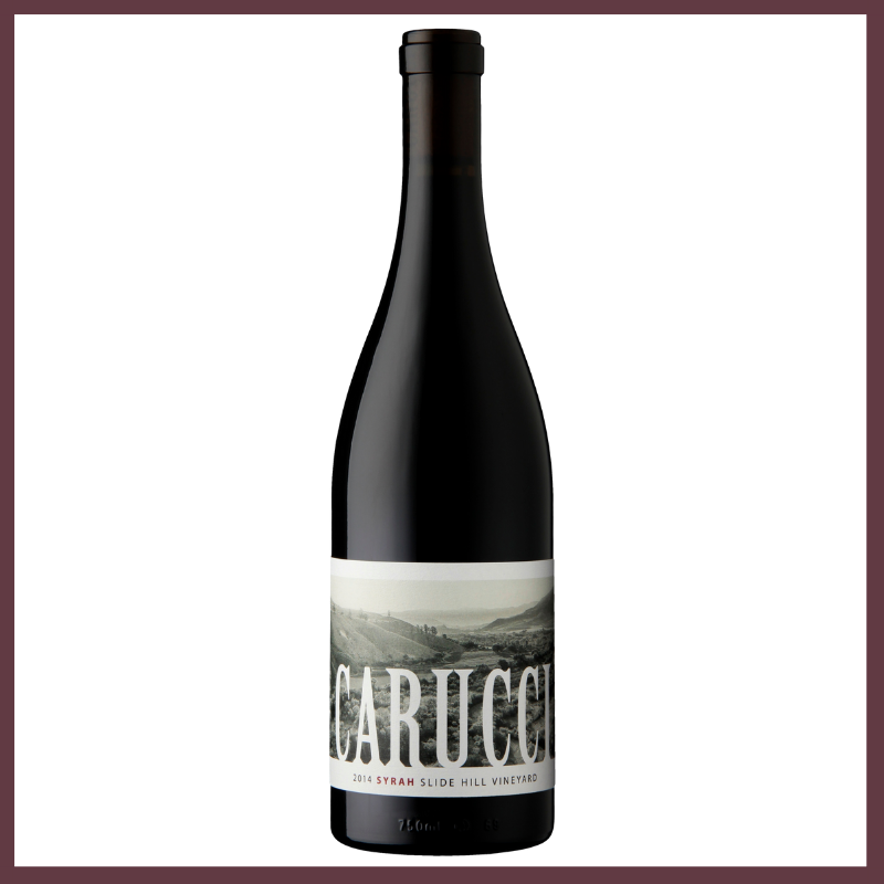 2014 Carucci Syrah   2014 was the third in a string of excellent vintages. A mild winter, normal to early budbreak and a warm summer lead to an early harvest. The condensed harvest created a hurried pace in the cellar yet again. The wines of 2014 should be fruitful, richly textured, showing balance and concentration. With a profile of: Black Rasberry – Dark Cherry – Leather – Tobacco Leaf – Green Tea – Black Pepper  Winemaker - Carucci Family Vintage - 2014 Varietal - 100% Syrah Appellation - Edna Valley Vineyard - Slide Hill Alcohol - 14.0% Case Production - 175 Barrel Regimen - 16 months French oak Neutral 500L puncheons Fun Facts- a Puncheon is a wine barrel that holds 132 gallons of wine. Winemakers may choose to use this barrel size instead of a standard wine barrel (about 60 gallons) because the larger format imposes less oak onto the wine.