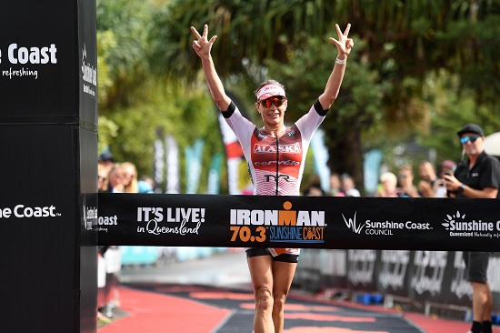 Caroline Steffen - Winner of the IRONMAN 70.3 Sunshine Coast