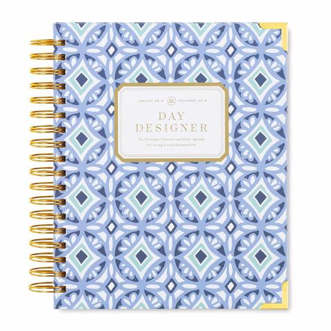 JANUARY 2018 DAILY PLANNER: TILE BLUE