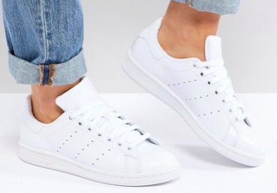 adidas Originals All White Stan Smith Sneakers