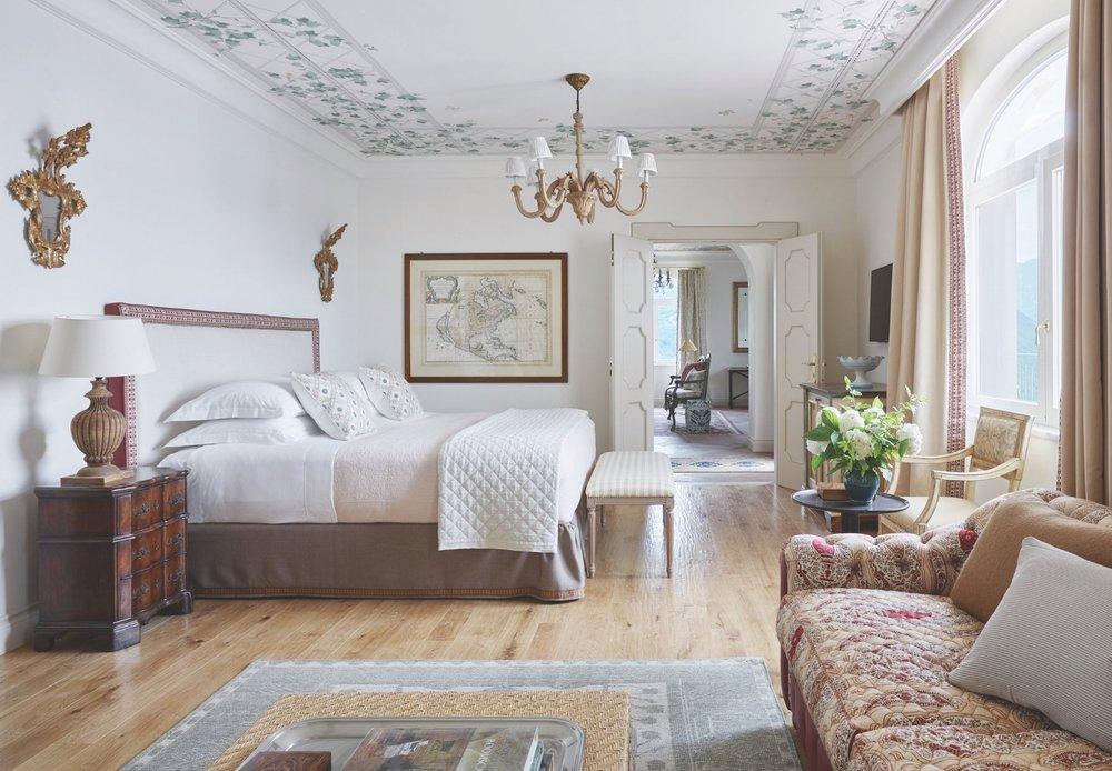 Inside the Belmond Hotel Caruso on the Amalfi Coast.