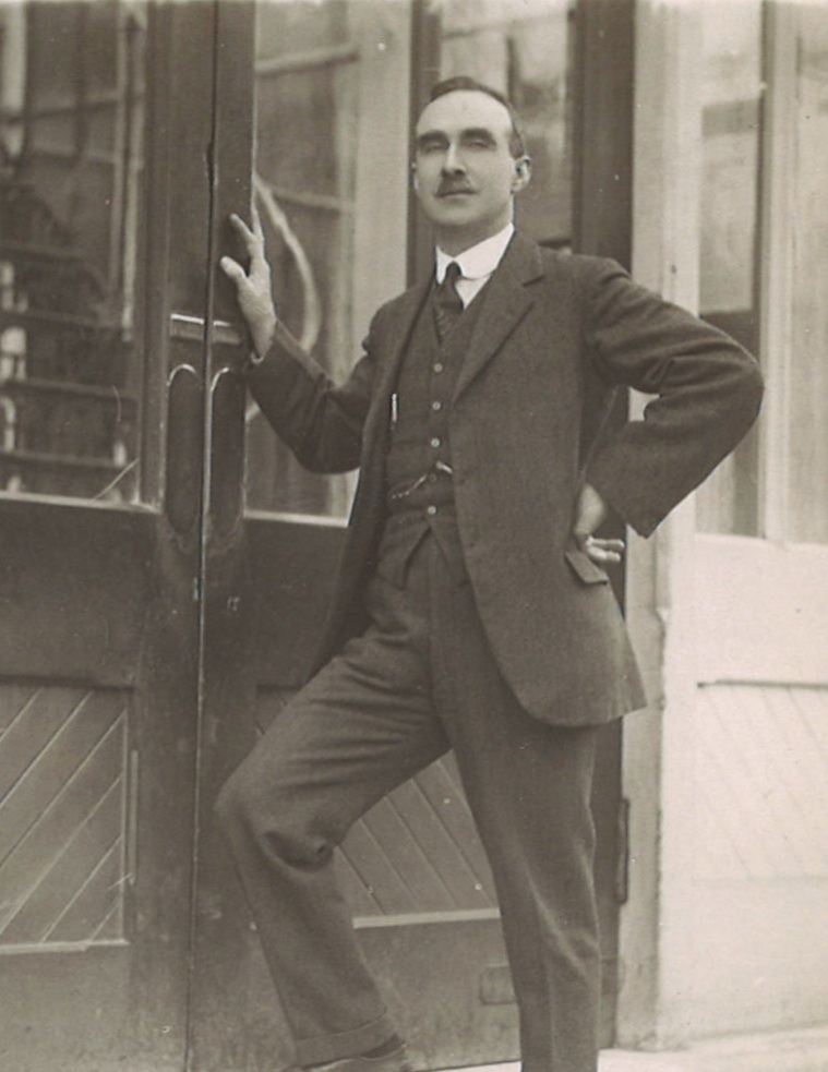 """Rootham at Cambridge University 1916.  Reproduced by permission of the Cyril Rootham website at www.rootham.org"""""""