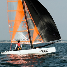 TOPAZ 16 - · ISAF 'Learn to Sail' Class· Performance twin trapeze Cat· Total rigged weight just 140kg· Novice – Racer
