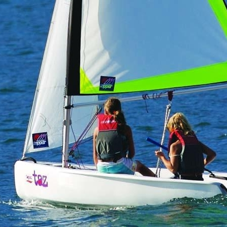 TAZ - · International Award Winning Design, ISAF 'Learn to Sail' class· Ideal club – junior learn to sail/race class· Beginner – Intermediate