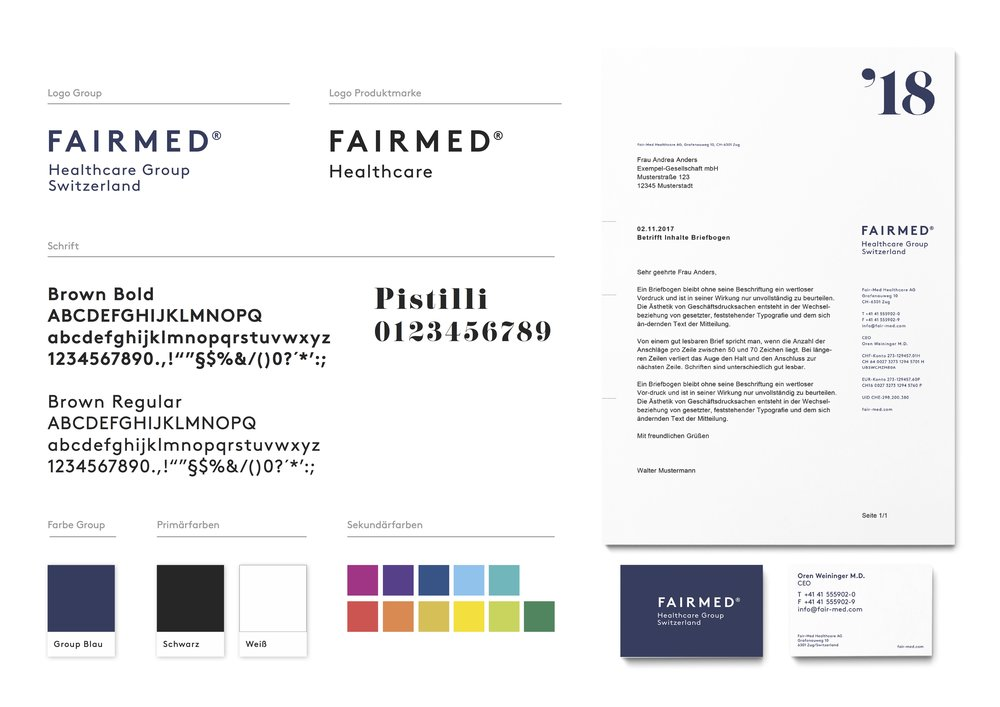 Fair-Med Healthcare AG / Zug Corporate Identity