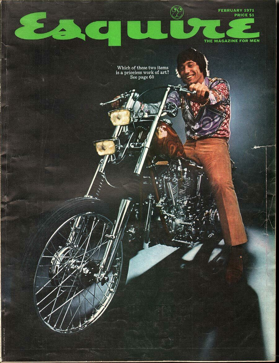 Esquire  (February 1971) puts Namath and a chopper on its front cover. That's coverage the producers of  Naked Angels , or any other biker pic, could only dream about.