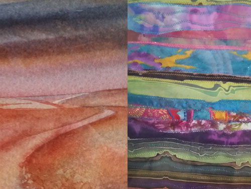 Eleanor Williams & Anne John - 1 - 6pmOpen studios - watercolours, mixed media, textiles and embroidery