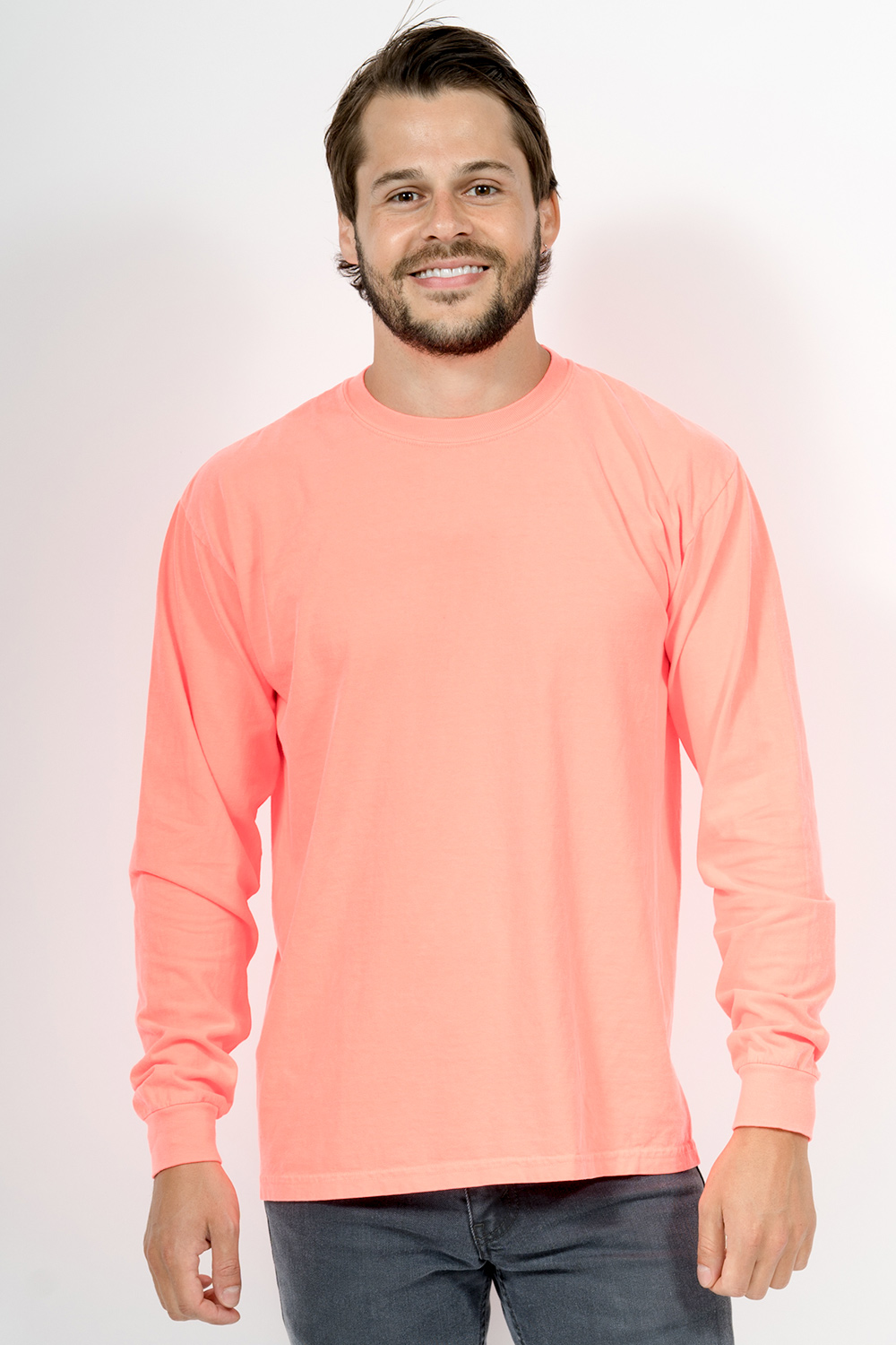 Custom Comfort Colors 1566 long-sleeve t-shirt front