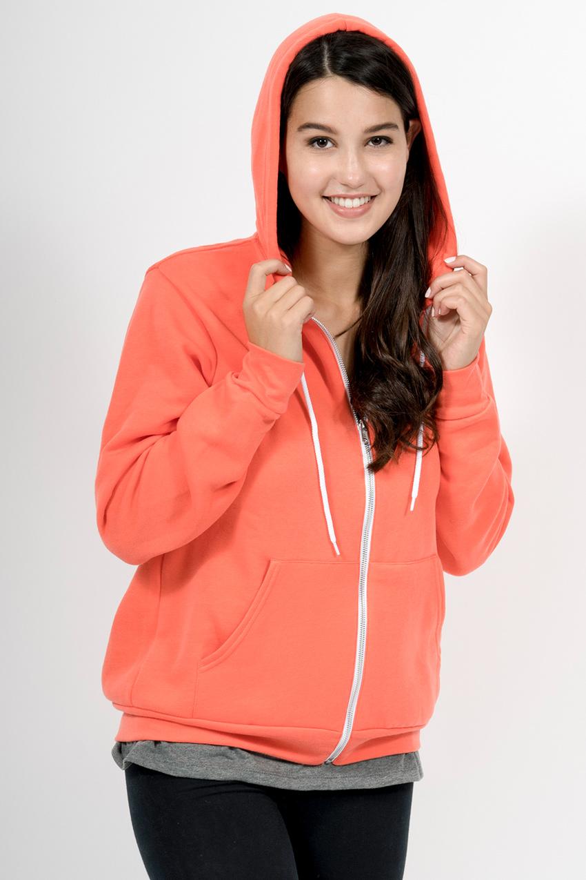 Custom Bella + Canvas 3739 sweatshirt front hood