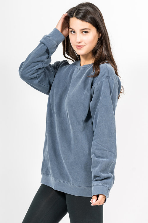frontlogo comfortcolors bigtopshirtshop sweatshirt products front dyed a colors garment com fleece spruce comforter blend hoodie comfort hooded grande blue mens