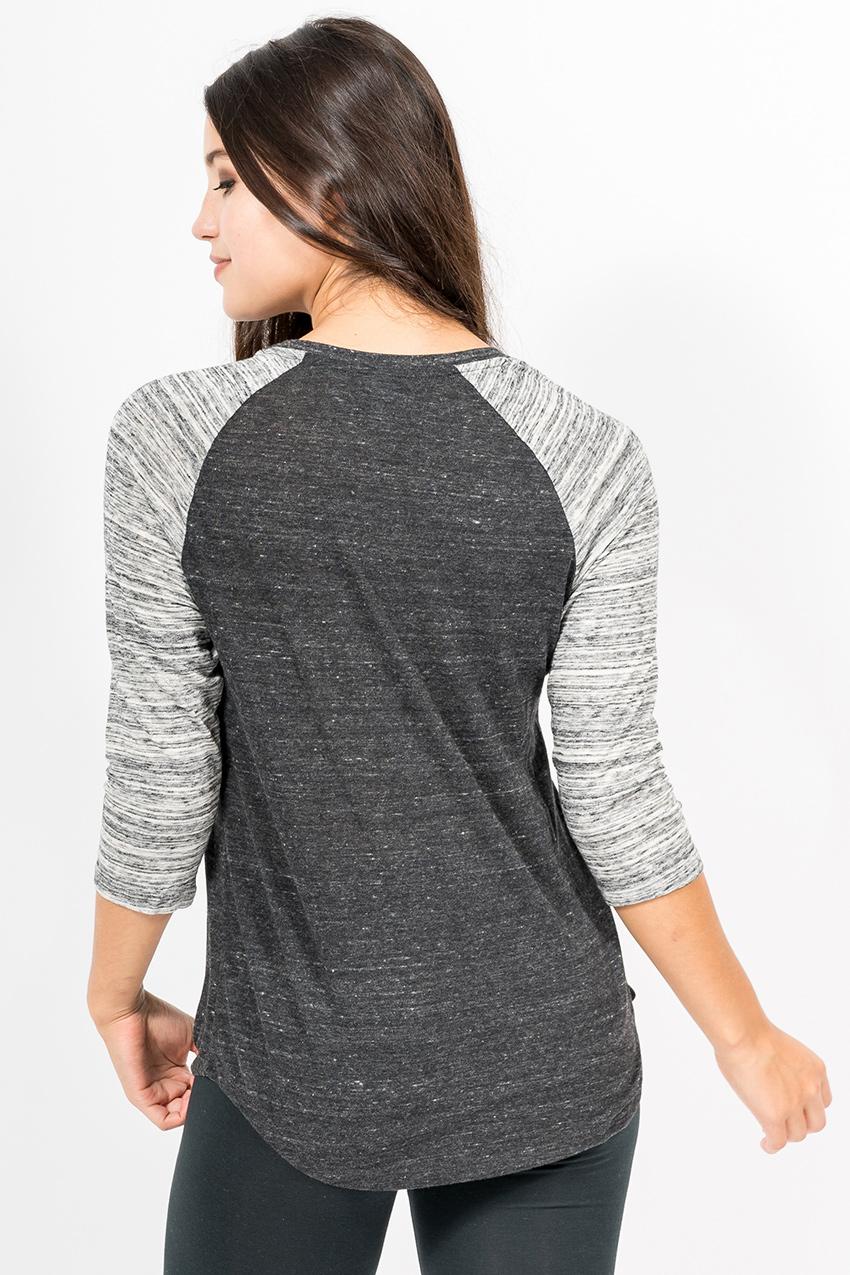 Custom Alternative 61352 Baseball t-shirt back
