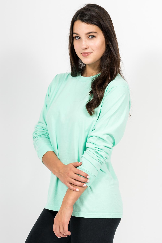 Custom Comfort Colors C6014 long-sleeve t-shirt side